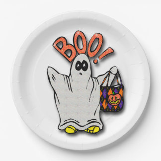 Halloween Paper Plates/Ghost 9 Inch Paper Plate