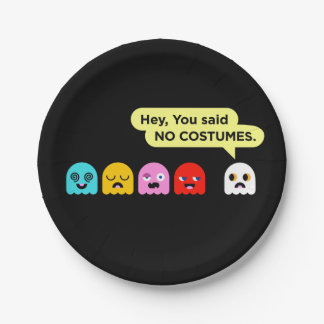 Halloween Paper Plates: Ghost Costume Party LOL 7 Inch Paper Plate