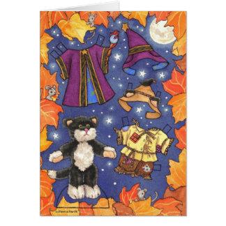 Halloween paperdoll card