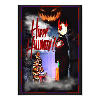 Halloween Party 1 13 Cm X 18 Cm Invitation Card