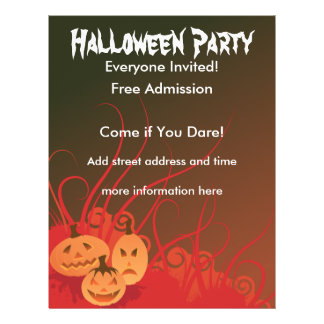 Halloween Party 21.5 Cm X 28 Cm Flyer