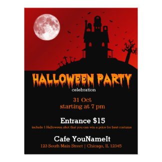 Halloween party 21.5 cm x 28 cm flyer