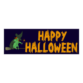 HALLOWEEN PARTY BANNER POSTER