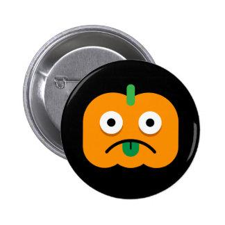 Halloween Party Button: Pumpkins (Jack-o-lantern) 6 Cm Round Badge