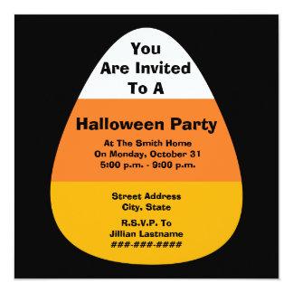 Halloween Party Candy Corn Invitation