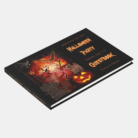 Halloween Party (customisable) Guest Book