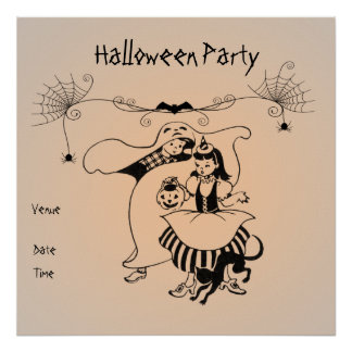 Halloween Party Customisable Poster