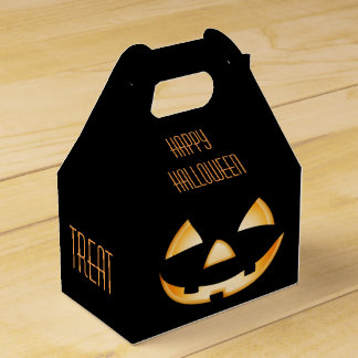 Halloween Party Favor Box - Trick or Treat? Wedding Favour Box