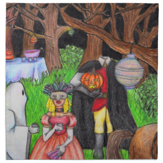 Halloween Party Ghost Headless Horseman Napkins