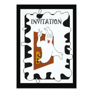 """Halloween party Ghost 5"""" X 7"""" Invitation Card"""