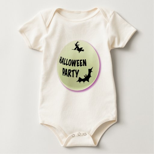 Halloween Party Icon Baby Bodysuits