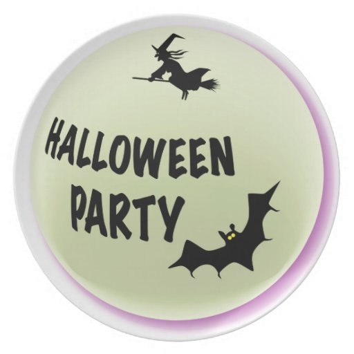 Halloween Party Icon Plate