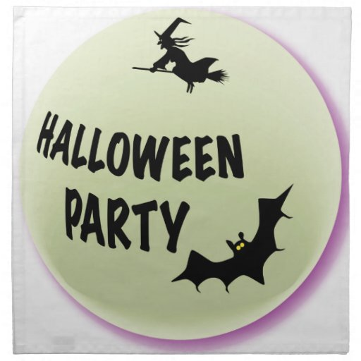 Halloween Party Icon Printed Napkins