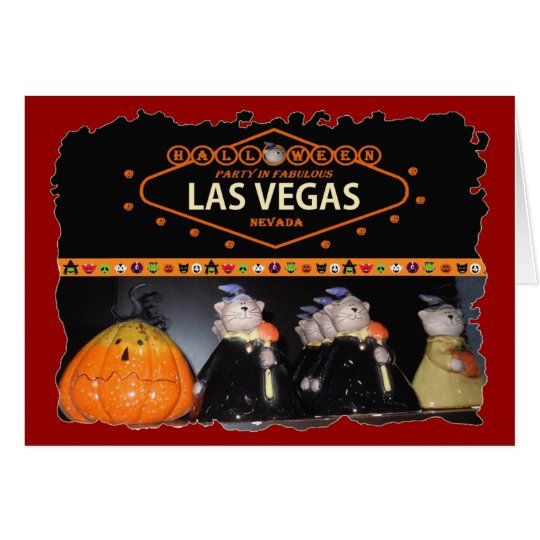 Halloween Party In Las Vegas Card