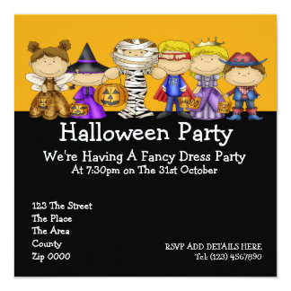 Halloween Party 13 Cm X 13 Cm Square Invitation Card