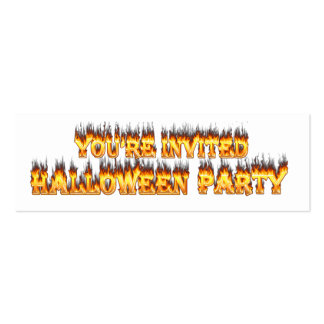halloween party invitation business cards