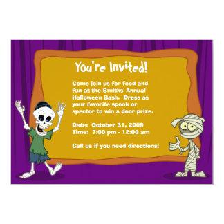 "Halloween Party Invitation (Customizable) 5"" X 7"" Invitation Card"
