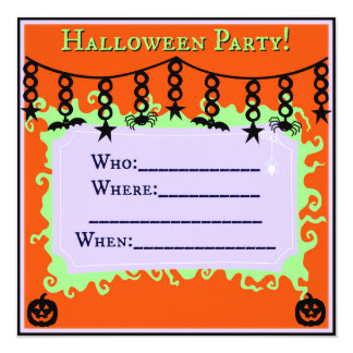 Halloween Party Invitation (Envelopes included)