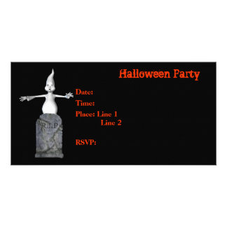 Halloween Party Invitation Ghost Tombstone Card Picture Card