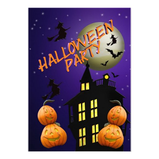 Halloween Party Invitation Haunted house