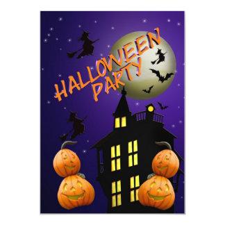 "Halloween Party Invitation Haunted house 5"" X 7"" Invitation Card"