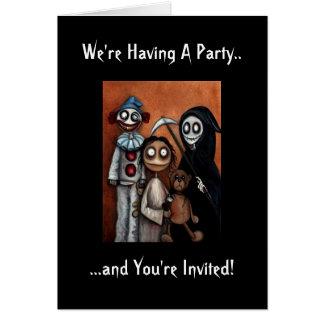 Halloween Party Invitation Note Card