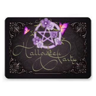 Halloween Party Invitation Pentagram 1