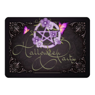 Halloween Party Invitation Pentagram 1