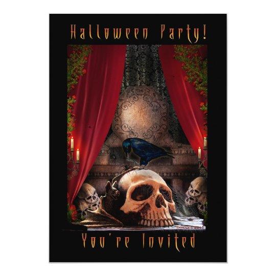 Halloween Party Invitation - Ravens Den