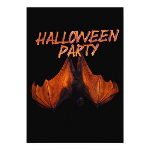 Halloween Party Invitation real scary bat