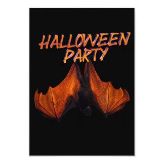 """Halloween Party Invitation real scary bat 5"""" X 7"""" Invitation Card"""