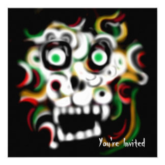 Halloween Party Invitation Skull