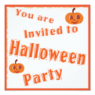 Halloween Party Invitation with Pumpkins