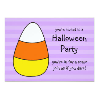 Halloween Party Invitations Giant Candy Corn