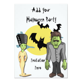 Halloween Party Invitations Monster Frankenstein