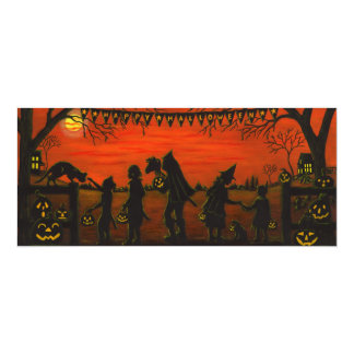 Halloween,party.invitations,trick-or-treat 10 Cm X 24 Cm Invitation Card