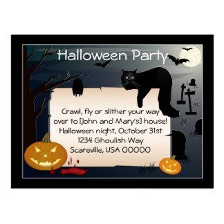 Halloween Party Invite Postcard