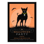 Halloween Party Invite - Scary Dog Under the Moon