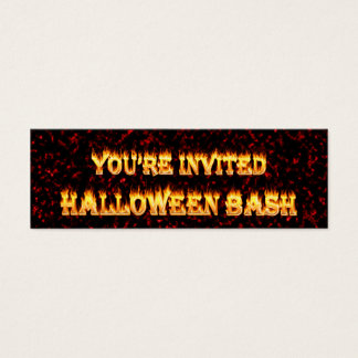 halloween party invites. mini business card