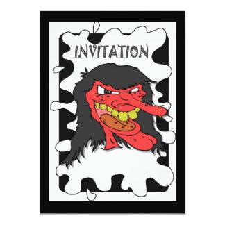 Halloween party Monster 13 Cm X 18 Cm Invitation Card