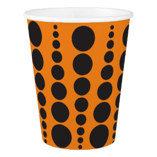 HALLOWEEN PARTY PAPER CUP CUSTOMIZABLE BACKGROUND