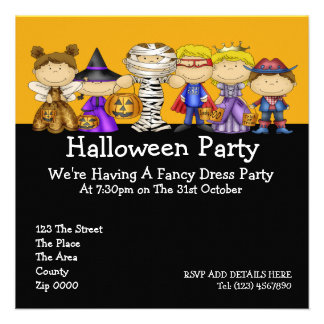 Halloween Party Personalized Invite