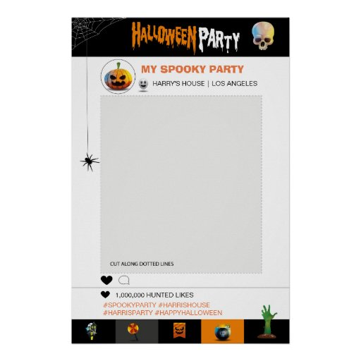 Halloween Party Photo Frame template Poster