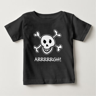Halloween party pirate skull costume for kids t shirt