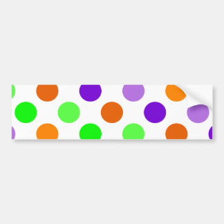 Halloween Party Polka Dots Bumper Sticker
