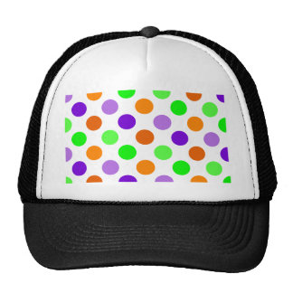 Halloween Party Polka Dots Mesh Hat
