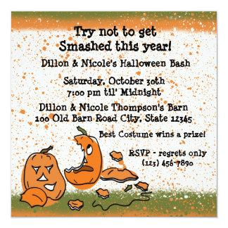 Halloween Party Pumpkins 13 Cm X 13 Cm Square Invitation Card