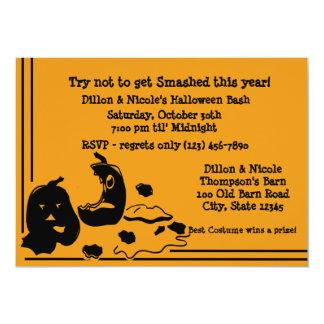 "Halloween Party Pumpkins 5"" X 7"" Invitation Card"