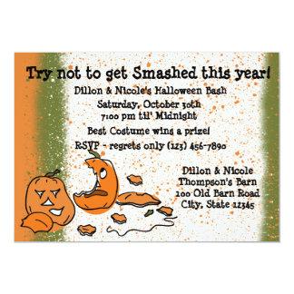 Halloween Party Pumpkins 5x7 Paper Invitation Card