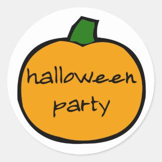 Halloween Party Punkin - stickers